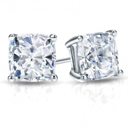 Cushion Cut Lab Created Diamond Studs