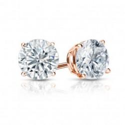 CLASSIC ROUND  LAB CREATED DIAMOND STUDS
