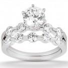 Jasmine Engagement Ring & Matching Band