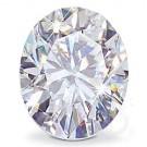 OVAL CUT LAB CREATED DIAMOND