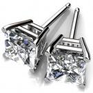 PRINCESS CUT  LAB CREATED DIAMOND STUDS
