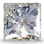 PRINCESS CUT LAB CREATED DIAMOND