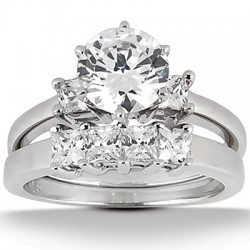 Evelyn Engagement Ring & Matching Band