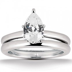 Perla Engagement Ring & Matching Band