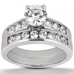 Brianna Engagement Ring and Matching Band