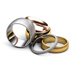 Half Round Wedding Bands