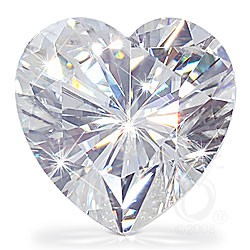 HEART CUT LAB CREATED DIAMOND