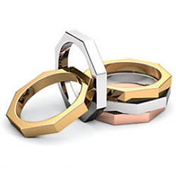 Octagon Wedding Bands