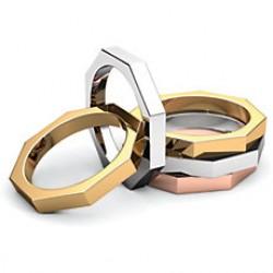 Octagon Wedding Bands