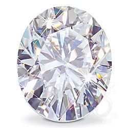 OVAL CUT LAB CREATED DIAMOND
