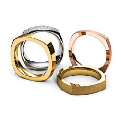 Square Comfort Fit Wedding Bands
