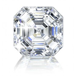 ASSCHER CUT LAB CREATED DIAMOND